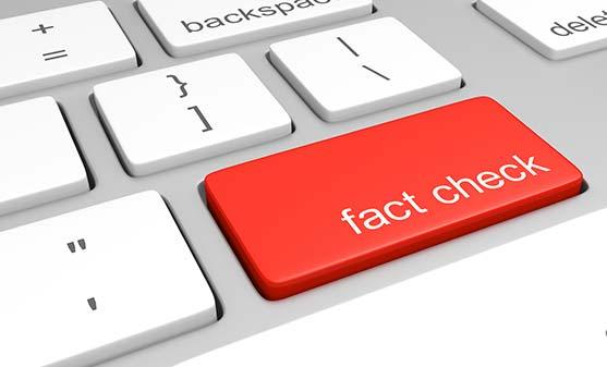 Fact check faux pas